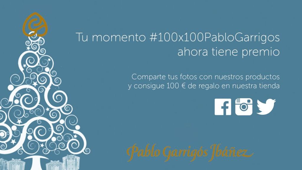 Promoción campaña #100x100PabloGarrigos
