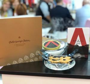 Maridaje Turrón de Jijona Pablo Garrigís Ibáñez y Caviar Nacarii en Alimentaria Barcelona 2018