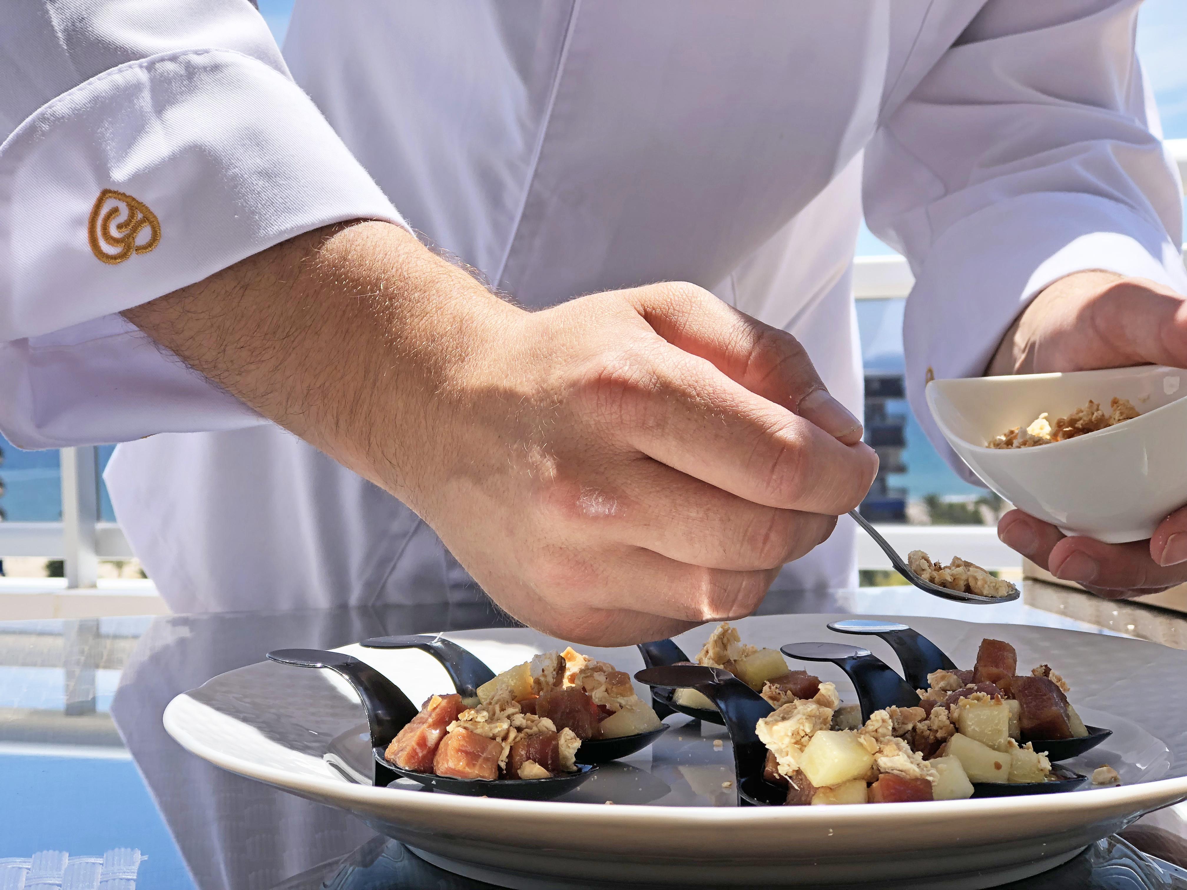Tartar de atún y pera
