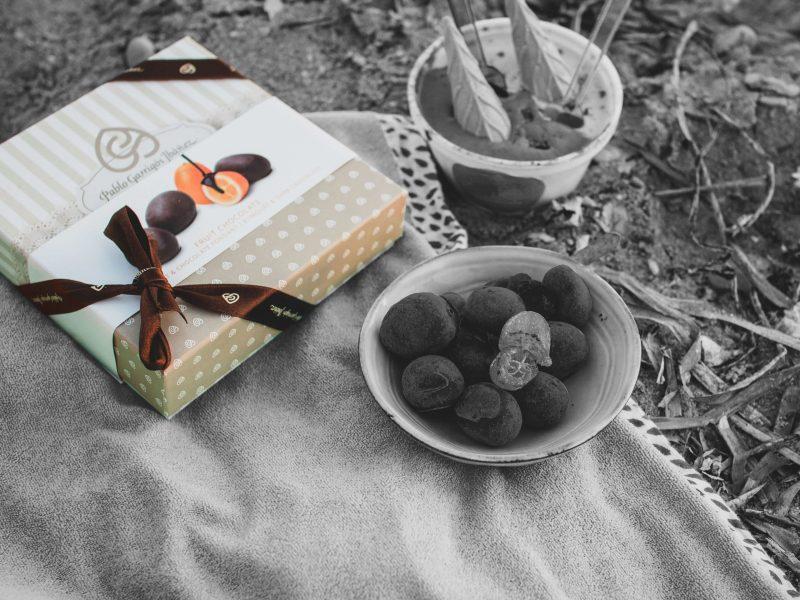 Bombones Chocolate Vintage de naranja Kumquat y chocolate fondant Pablo Garrigós