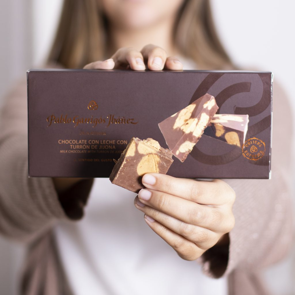 Turrón de chocolate con leche y turrón de Jijona Pablo Garrrigós Ibáñez