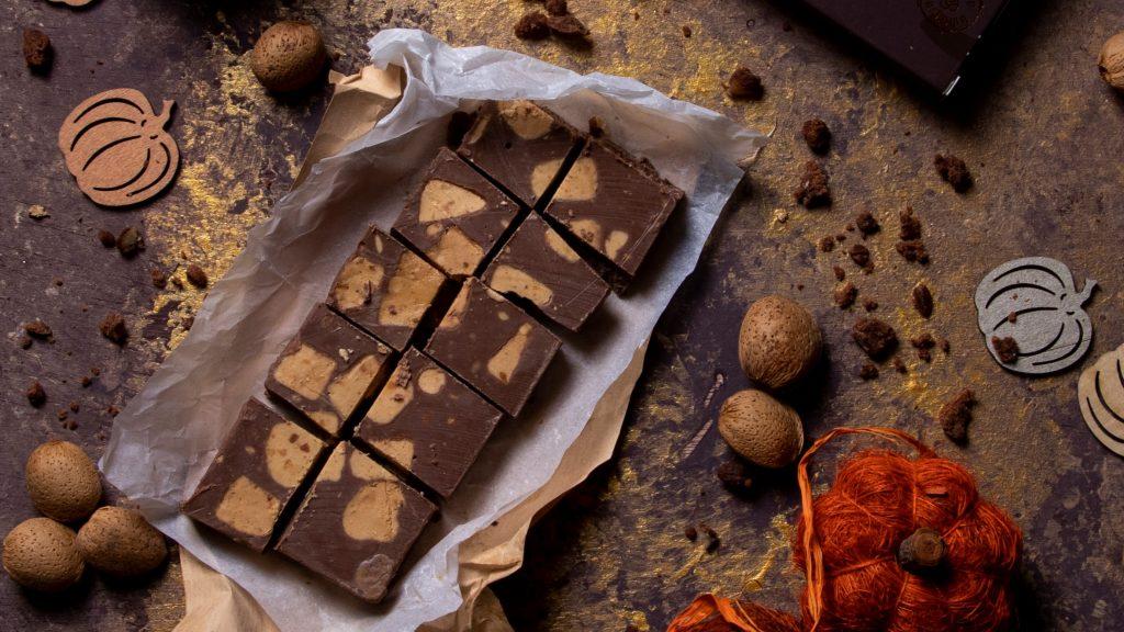 Turrón de chocolate con leche y turrón de Jijona Pablo Garrigós